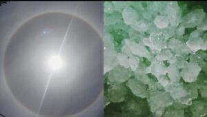 Hujan es dan matahari cincin toraja