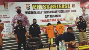 Konferensi pers satreskrim polres Tana Toraja